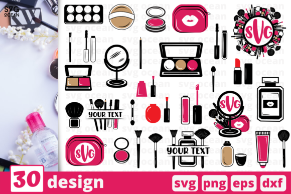 Print on Demand: Makeup Tools SVG Bundle Graphic Crafts By SvgOcean