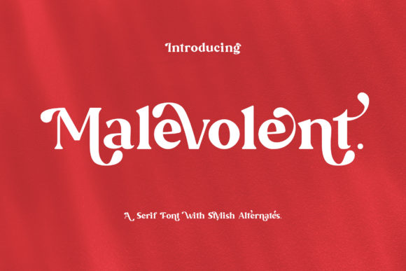 Print on Demand: Malevolent Serif Font By rometheme