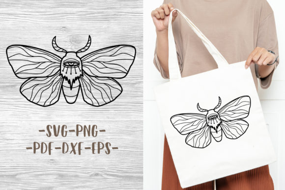 Mystical Boho Butterfly Design Graphic Crafts By GreenWolf Art