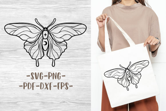 Mystical Butterfly Design for Cricut Graphic Crafts By GreenWolf Art