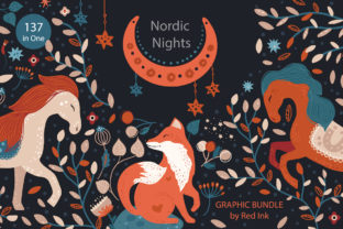 Print on Demand: Nordic Nights. Boho Graphic Bundle Graphic Illustrations By Red Ink