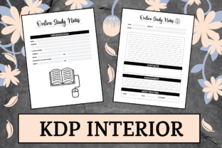 Print on Demand: Online Study Notes | KDP Interior Graphic KDP Interiors By KDP Mastermind