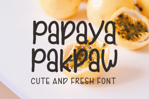 Print on Demand: Papaya Pakpaw Script & Handwritten Font By FL Space