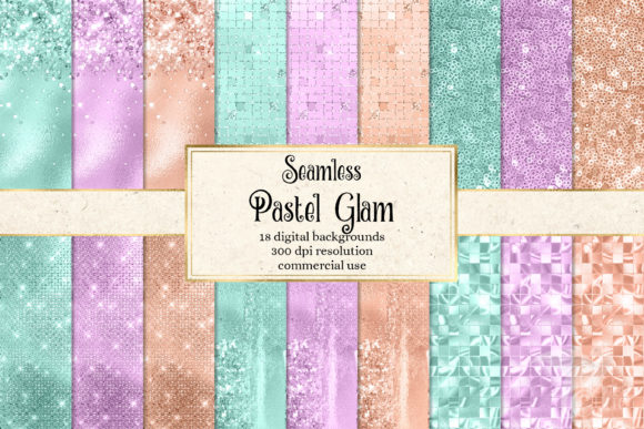 Print on Demand: Pastel Glam Digital Paper Graphic Textures By Digital Curio