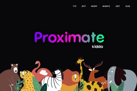 Print on Demand: Proximate Kiddo Display Font By Webhance