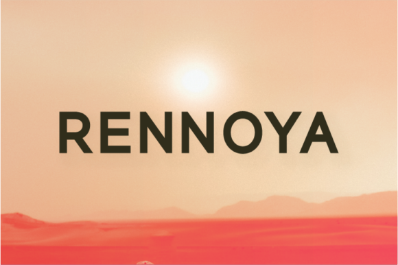 Print on Demand: Rennoya Sans Serif Font By A Christie
