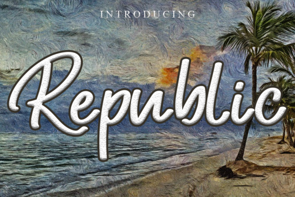 Print on Demand: Republic Script & Handwritten Font By gunawanletter