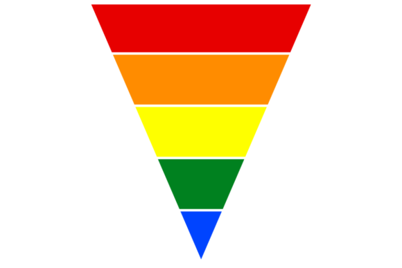 Print on Demand: Retro Triangle LGBT Pride Background Graphic Backgrounds By atlasart