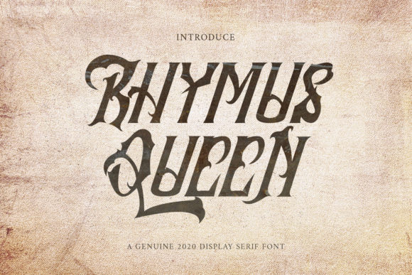 Print on Demand: Rhymus Queen Blackletter Font By rometheme