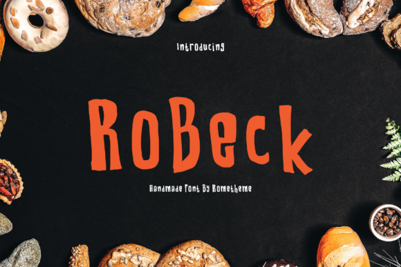 Print on Demand: Robeck Display Font By rometheme