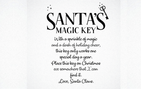 Print on Demand: Santa's Magic Key SVG, Christmas SVG Graphic Crafts By SVG DEN