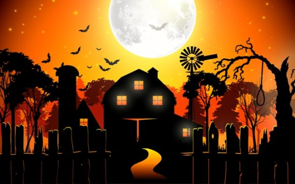 Scary Halloween Background Vector Graphic Illustrations By artnovi