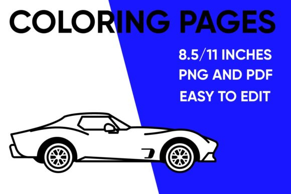 Print on Demand: Simple Car Coloring Page for Kids Graphic Coloring Pages & Books Kids By Mah Moud