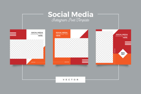 Print on Demand: Social Media Instagram Kit Template Graphic Graphic Templates By Novendi88