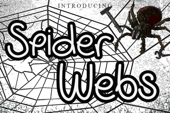 Print on Demand: Spider Webs Script & Handwritten Font By gunawanletter