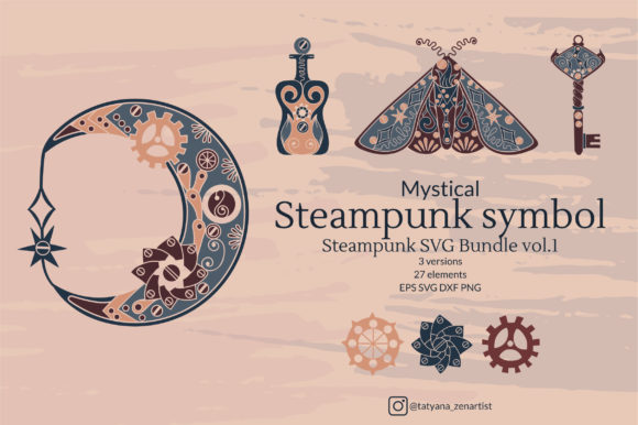 Steampunk Symbol, Bundle Vol.1 Graphic Crafts By Tatyana_Zenartist