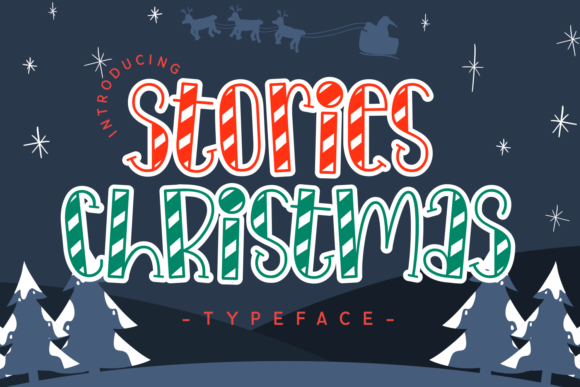 Print on Demand: Stories Christmas Decorative Font By Dani (7NTypes)