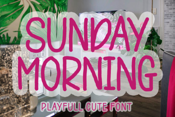 Print on Demand: Sunday Morning Script & Handwritten Font By FL Space