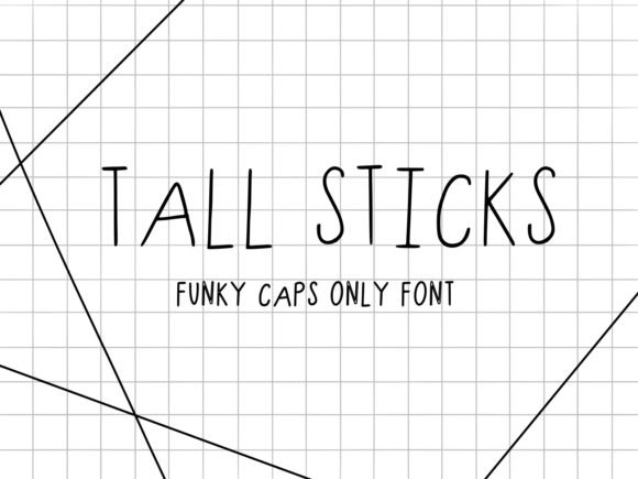Print on Demand: Tall Sticks Script & Handwritten Font By fonts.ness