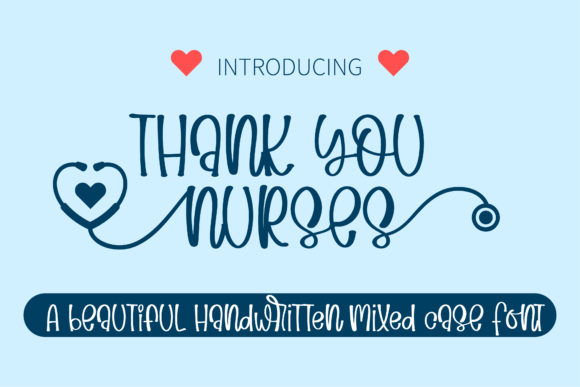 Print on Demand: Thank You Nurses Script & Handwritten Fuente Por BitongType