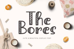 Print on Demand: The Bores Decorative Font By Pandastock