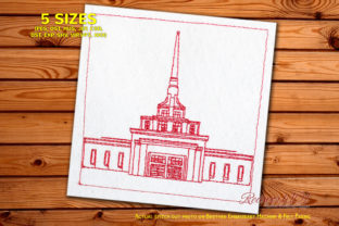 The Church of Jesus Christ South America Embroidery Design By Redwork101