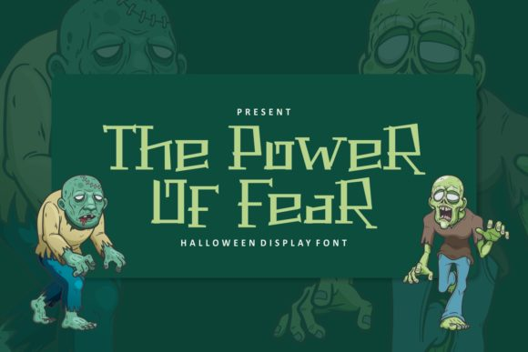 Print on Demand: The Power of Fear Display Font By Pandastock