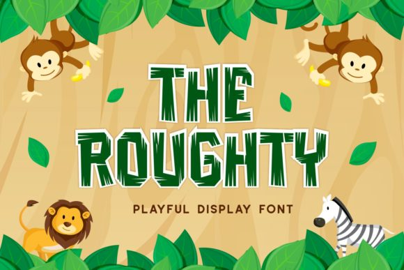 Print on Demand: The Roughty Display Font By Pandastock