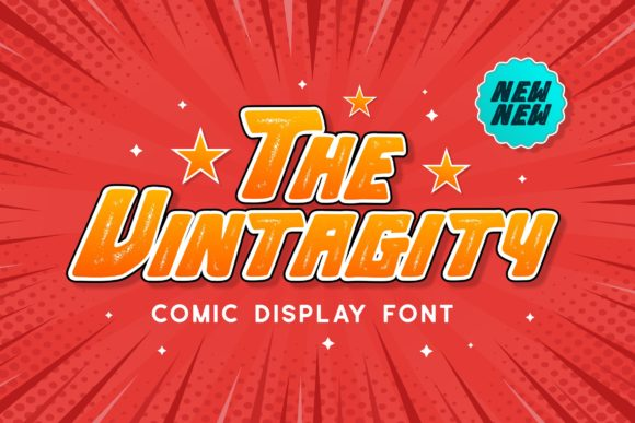 Print on Demand: The Vintagity Display Font By Pandastock