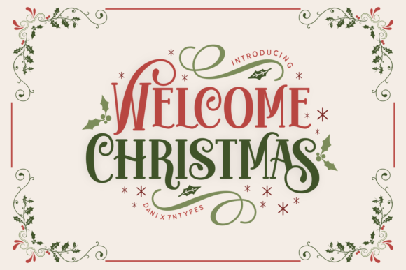 Print on Demand: Welcome Christmas Display Font By Dani (7NTypes)
