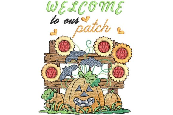 Welcome to Our Patch Halloween Embroidery Design By BabyNucci Embroidery Designs