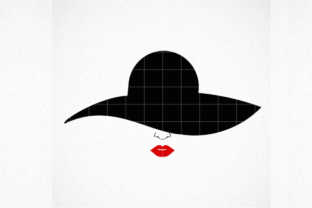 Print on Demand: Woman with Hat Svg, Woman Lips Svg Graphic Crafts By SVG DEN