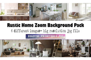 Print on Demand: Zoom Background White, Rustic Pack, Home Graphic Photos By DigitalPrintableMe