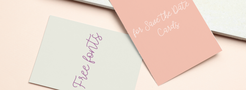 free fonts for save the date cards