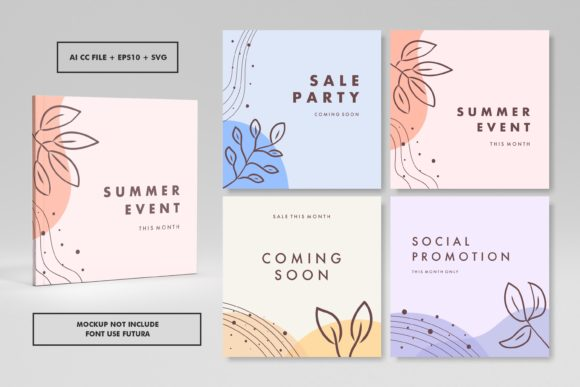Abstract Trendy Square Cover Design 16 Graphic Graphic Templates By abworks