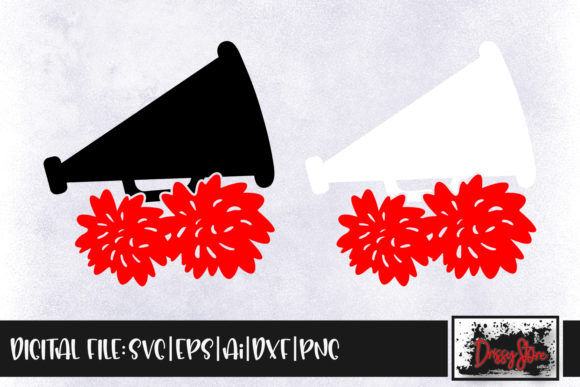 Cheer Megaphone Graphic Crafts By DrissyStore