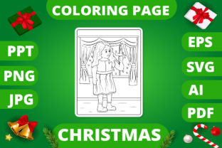 Print on Demand: Christmas Coloring Page for Kids #25 V2 Graphic Coloring Pages & Books Kids By MikeToon Studio