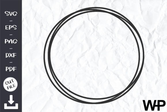 Circle Frame, Circle Wire Frame SVG Graphic Objects By wanchana365