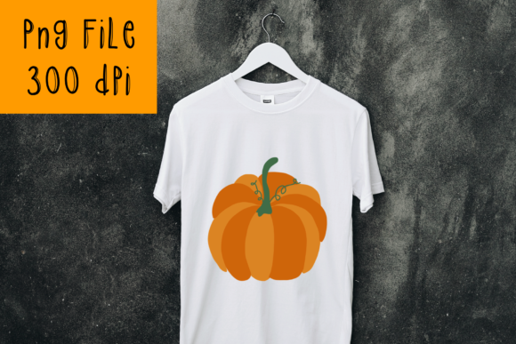 Print on Demand: Fall Pumpkin Sublimation Graphic Design Graphic Crafts By CSDesign