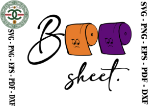 Print on Demand: Funny Halloween Boo Sheet Vector Graphic Print Templates By Cricut Creation