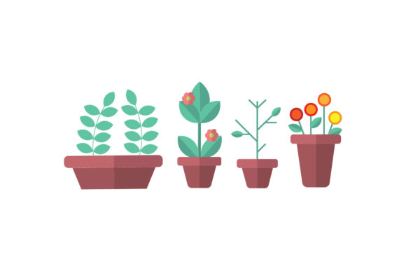 Garden Plants Vectors Illustrations Graphic Illustrations By PiGeometric