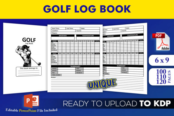 Print on Demand: Golf Log Book KDP Interior Template Graphic KDP Interiors By Beast Designer