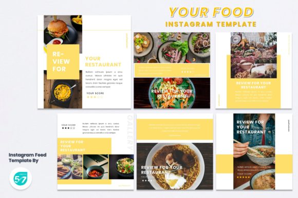 Instagram Feed Template - Your Food Graphic Presentation Templates By 57creative