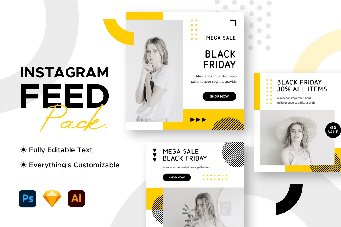 Instagram Post Black Friday Template Graphic By Mahative Creative Fabrica