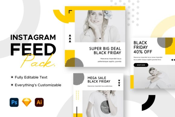 Instagram Post Black Friday Template Graphic Websites By mahative