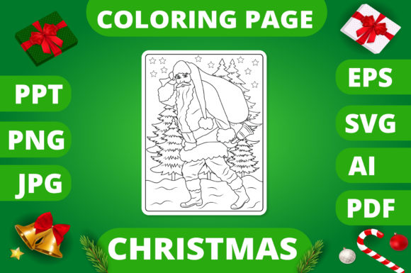 KDP | Christmas Coloring Book for Kids 2 Graphic Design