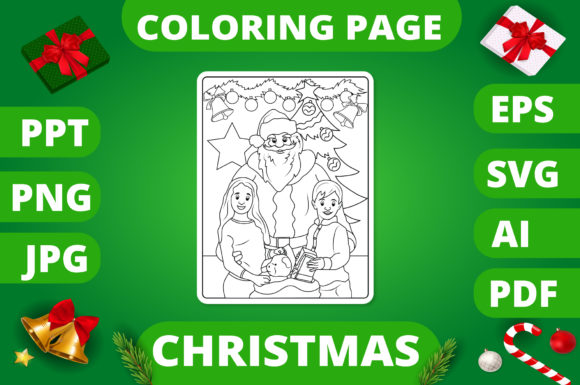 KDP | Christmas Coloring Book for Kids 2 Graphic Design Item