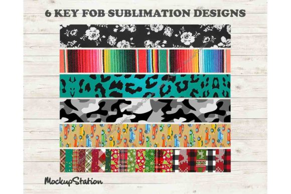 Print on Demand: Key Fob Chain Sublimation Design PNG Graphic Patterns By Mockup Station