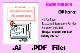 Print on Demand: Mazes for Kids with Facts - Kdp Interior Graphic KDP Interiors By KDP_Interior_101