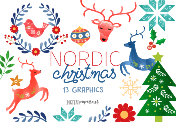Print on Demand: Nordic Christmas Graphic Illustrations By DigitalPapers